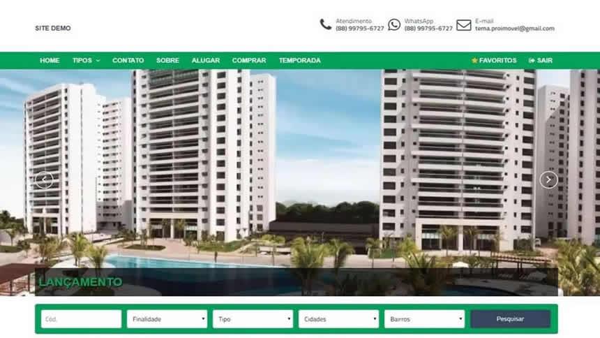 Tema Wordpress para Imobiliária