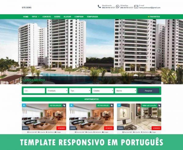 Template WordPress para imobiliária