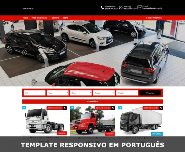 Template WordPress venda de carros