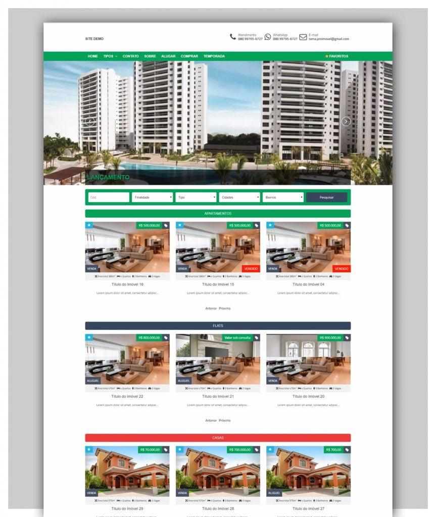 Temas WordPress Imobiliárias